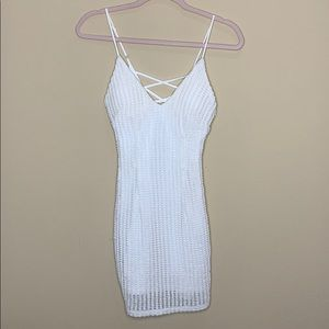 LF White crochet dress